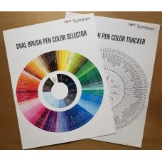 Tombow Brush Pen Color Selector and Color Tracker