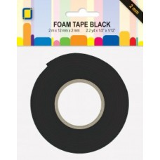 Foam Mounting Tape roll, Black 3.3022