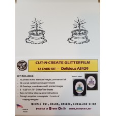 Cut-N-Create GlitterFilm 12 Card Kit Delicious AS429