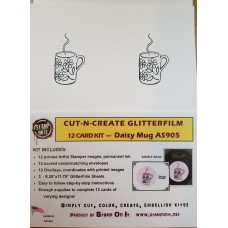 Cut-N-Create GlitterFilm 12 Card Kit Daisy Mug AS905