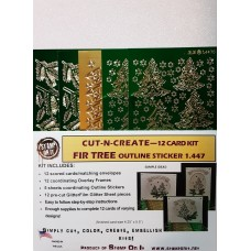 Cut-N-Create 12 Card Kit Fir Tree 1.447
