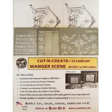 Cut-N-Create 12 Card Kit Manger Scene AS1201