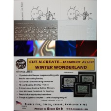 Cut-N-Create 12 Card Kit  Winter Wonderland AS1637