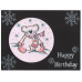 Cut-N-Create GlitterFilm 12 Card Kit Winter Teddy AS1301