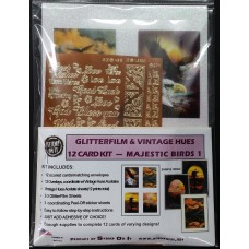 GlitterFilm & Vintage Hues 12 Card Kit Majestic Birds
