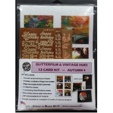 GlitterFilm & Vintage Hues 12 Card Kit Autumn 4