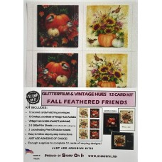 GlitterFilm & Vintage Hues 12 Card Kit Fall Feathered Friends