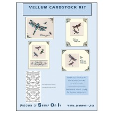 Vellum Cardstock 12 Card Kit Dragonflies