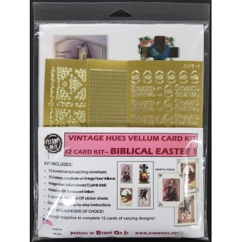 Vintage Hues Vellum Card Kit Biblical Easter I