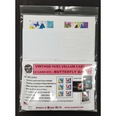Vintage Hues Vellum Card Kit Butterfly Daisies