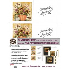 GlitterFilm & Vintage Hues Shaker Card Kit Fall Feathered Friends Blessings