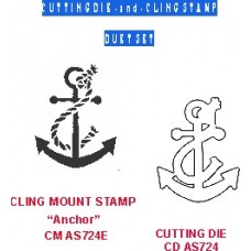 Anchor Duet Set (die & coordinating cling stamp)  724