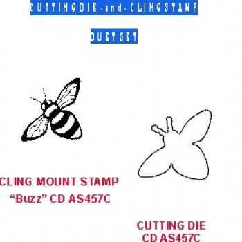 Buzz Duet Set (die & coordinating cling stamp) 457