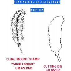 Feather (small) Duet Set (die & coordinating cling stamp) 192