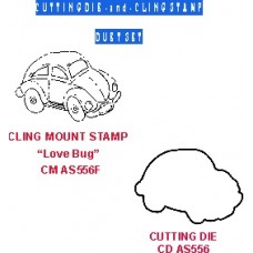 Love Bug Duet Set  (die & coordinating cling stamp) DS AS435D