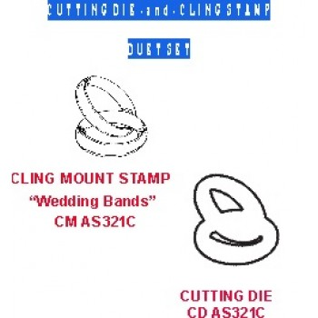 Wedding Bands Duet Set (die/cling stamp) DS AS321C