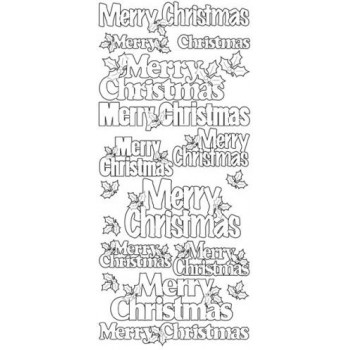 Merry Christmas, various outline sticker