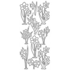 Daffodils Outline Sticker 2.309