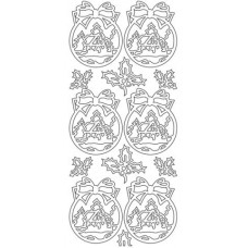 Christmas Ball Ornament/Landscape Outline Sticker  2431