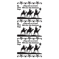 Three Kings Outline Sticker 2484 (LCD030)
