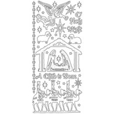 Nativity Outline Sticker (2102) 2602