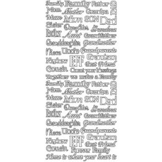 Family and Friends Greetings Outline Sticker 2894