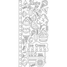 Summer Treats Outline Sticker, 3603