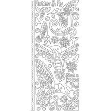 Zen Hummingbirds Outline Sticker 3719