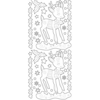 Holiday Bambi Outline Sticker 3752