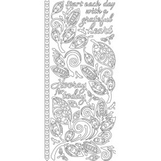 Zen Leaves Outline Sticker 3836 2553