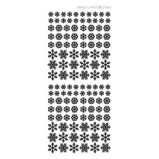 Tiny Snowflakes Outline Sticker 3895