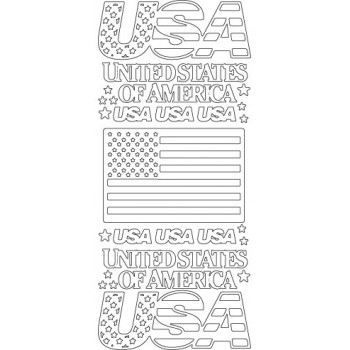 USA Outline Sticker, 4085