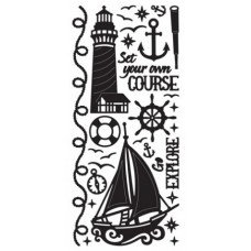 Nautical Outline Sticker, 4202