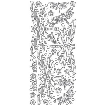 Dragonfly Outline Sticker, 4503