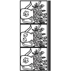 Watering Can Outline Sticker 4609