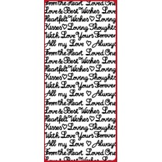 Mixed Romance Greetings Outline Sticker  DD2106