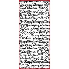 Mixed Valentine's Text Outline Sticker DD2135