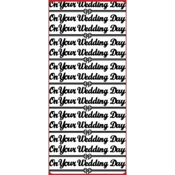 On Your Wedding Day Outline Sticker  DD2178