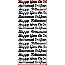 On Your / Happy Retirement Outline Sticker  DD2205