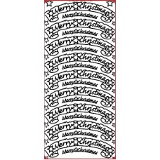 Merry Christmas Banner Outline Sticker DD2716