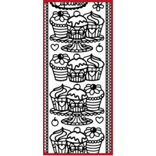Cupcakes & Borders DD5553 Outline Sticker