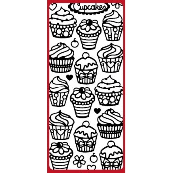 Cupcakes DD5554 Outline Sticker