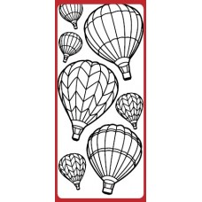 Hot Air Balloons Outline Sticker
