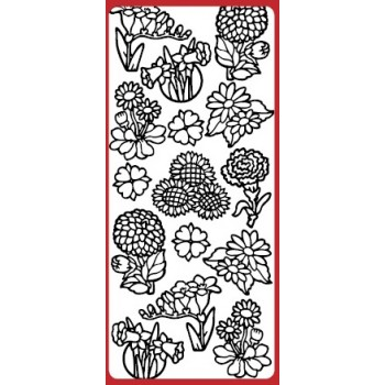 Various Flowers 1 Outline Sticker  DD6504