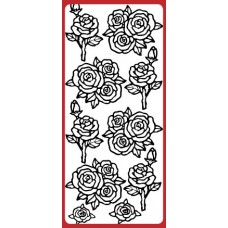 Roses, Various Outline Sticker DD6506