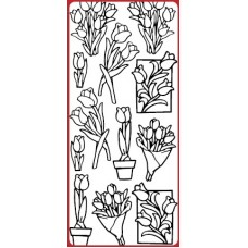 Tulips, Various Outline Sticker DD6509