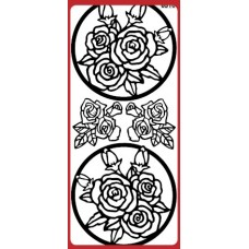 Roses in Frame Outline Sticker DD6510
