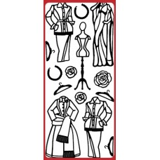 Fashion Dresses 2 Outline Sticker   DD8502