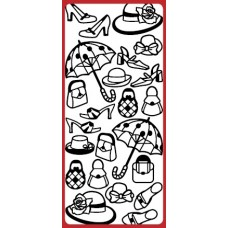 Fashion Hat/Shoe/Bag Outline Sticker   DD8505