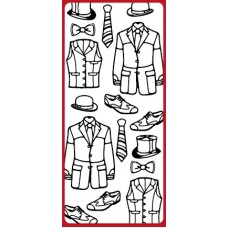 Fashion Gentleman Outline Sticker  DD8532
